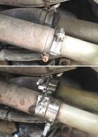 T-bolt clamps on plastic coolant pipes