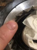 88 Vanagon CV output flange retaining nut damage