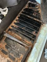 Right Side Floor Pan After Tar Board Removal