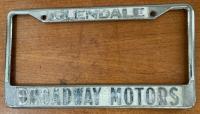 Broadway Motors VW Service Glendale, CA Plate Frame