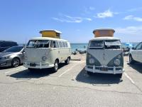 Buses by the Beach