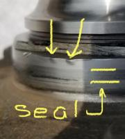 Syncro front bearing seal area