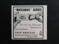 Matchbox Bus No. 34 ad