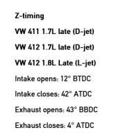 camshaft timing points