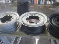 Painted bus wheels