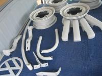 painted wheels, bumper parts
