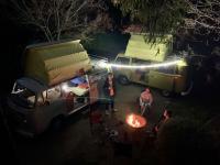 Olive Kombi Lockdown campout