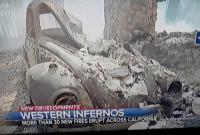 Burned '67 Beetle in CA fires