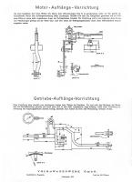 Tool to move the Typ 166  Schwimmwagen engine and gearbox in and out