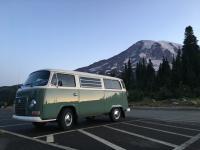Bus at MT. Rainier