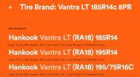 Vantra LT 185R14c 8PR