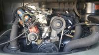 Elm Green 71 Deluxe engine bay