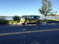 1959 mango bus out on early fall day