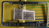 Beetle Imports plate frame - Santa Monica, CA