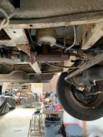 1966 Kombi driver's side front brake backing plate.
