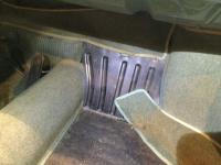 Original Ghia carpet location passenger footwell