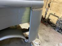 Left rear corner and C pillar trial fitting