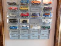 some of my collection of collectible Brekina Bus toys