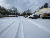 Rare snow event