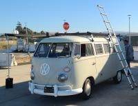 """""""The Toaster"""" (our 1967 Westfalia) at the VW Enthusiasts Alameda Meet"""