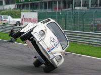 Herbie goes bananas at the race track of Francorchamps!