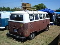 Brown/White Bus