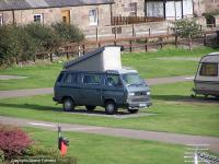 Camper at Stonehaven, Scotland.