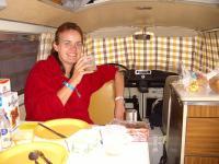 Kub having breakfast at Spa Francorchamps 2005