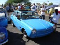 Blue custom Fastback with ragtop