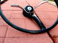 Customized steering wheel, single spoke horn clock