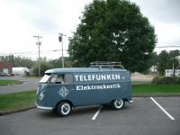 Telefunken USA // 1958 original paint panel van
