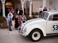 Herbie helps out at a wedding