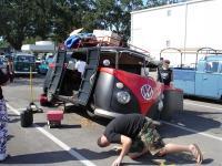 Panelvan under repair
