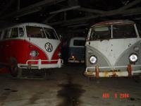 my old garage at night.