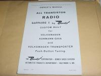 1962 Sapphire Instructions