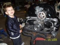More kid and engine pics
