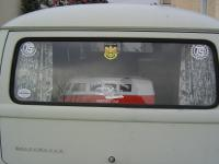Rear window of the EZ Camper
