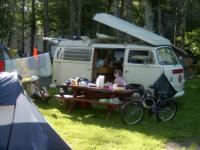 71 westy /  Camping at Old Orchard Beach , ME  july 4th 2005