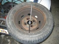 spare tire mounted