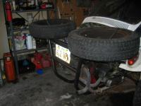 spare tire mounted side view