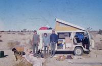 Parents '69 Wesfalia in Mojave Desert