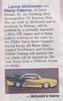 VW in National Dragster