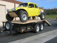 my new 5 car loaded on the trailer