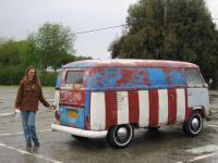 Rachel and her prize-winning panelbus Captain America