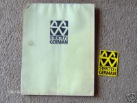 Strictly German Inc Catalog and Sticker