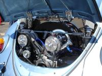 Beetle with chrome engine