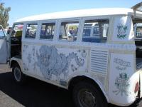 Bus with murals