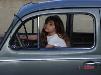 My daughter cruising her '56 ragtop...