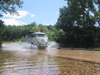 Neal crossing a low water bridge...