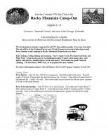Bandimere Campout info for before the show on Aug 6th